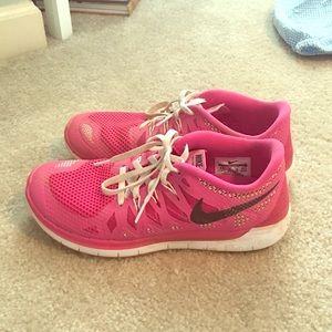 Pink Nike's